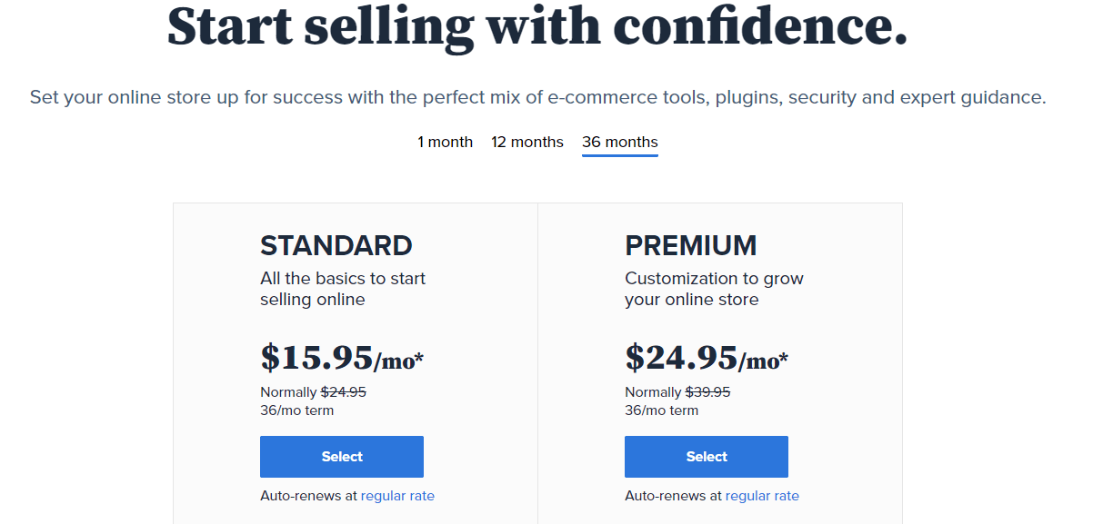 bluehost ecommerce hosting pricing