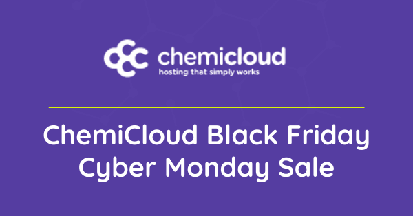 chemicloud black friday cyber monday sale